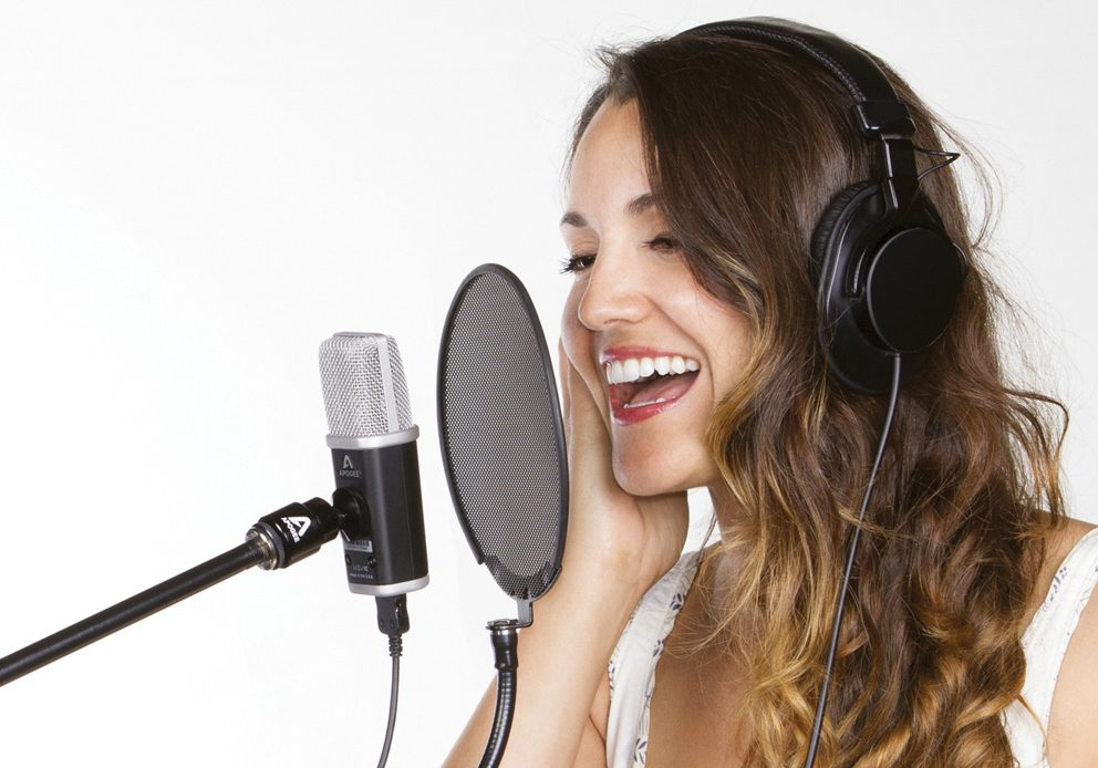 Singer Recording Vocals